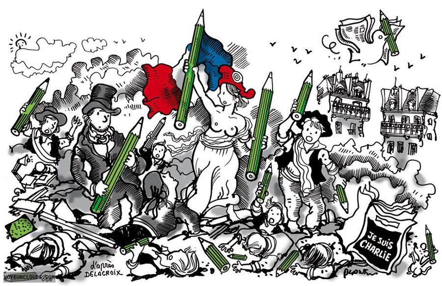 France, Liberty, Free speech, Secularism, Resilence