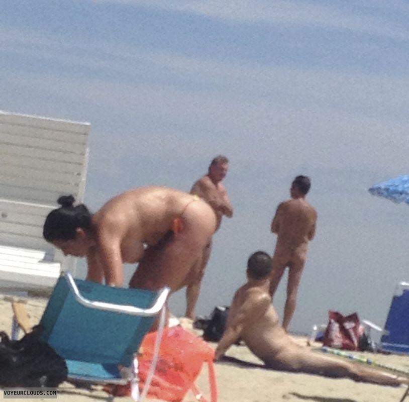 nude wife, beach voyeur