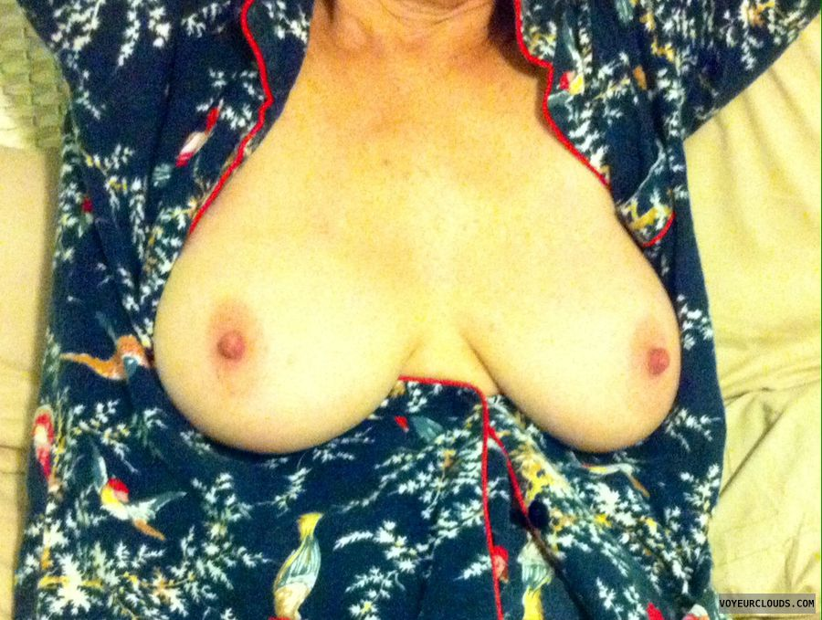 Big tits, big nipples, PJ\'s, erect nipples