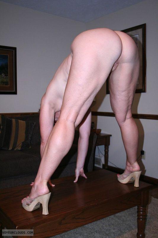 wfi, round ass, pussy peek, high heels, pink pussy