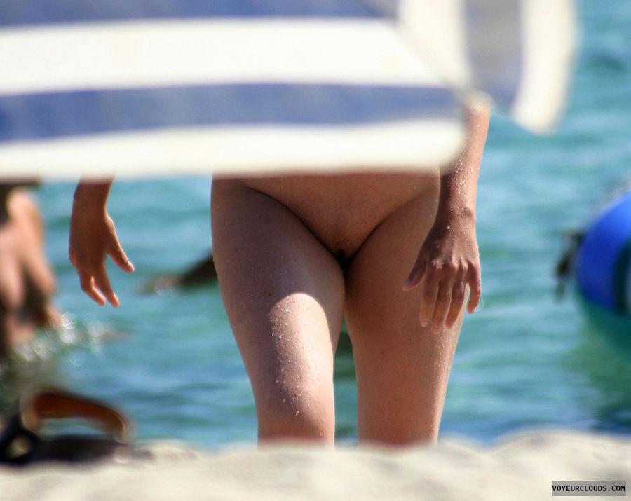 beach voyeur, nude beach, beach pussy, shaved pussy