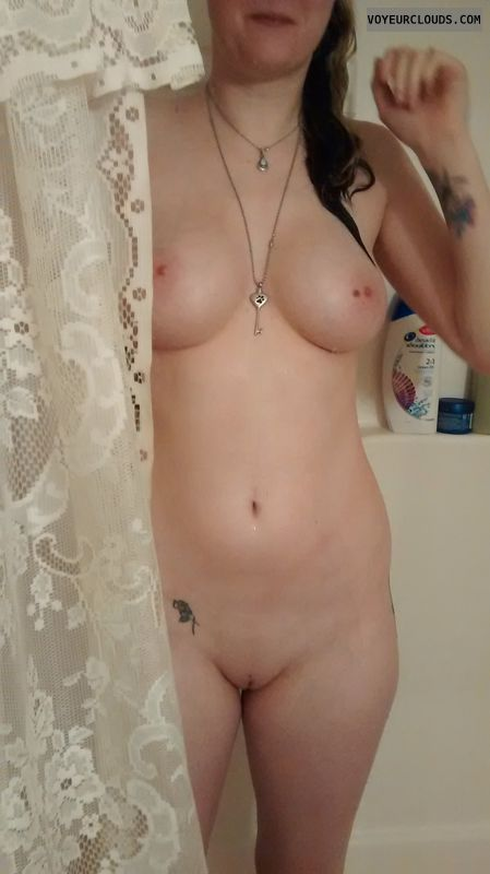 wife tits, shower, tits, boobs, wife, wifes