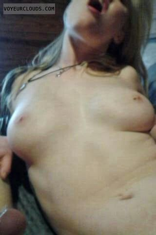 open mouth, nude wife, big tits