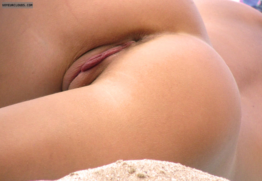 beach voyeur, beach pussy, pink pussy, beach spy, nudist voyeur