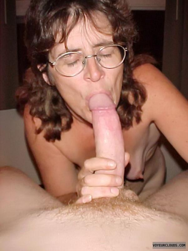 topless wife, blow job, wife nipple