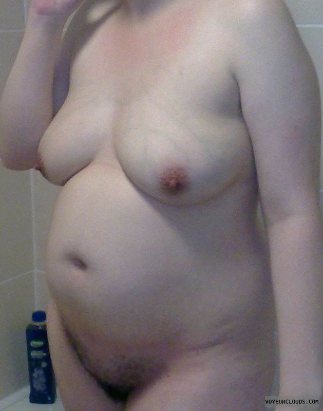 pregnant wife, big tits, big boobs, hairy pussy, nude wife