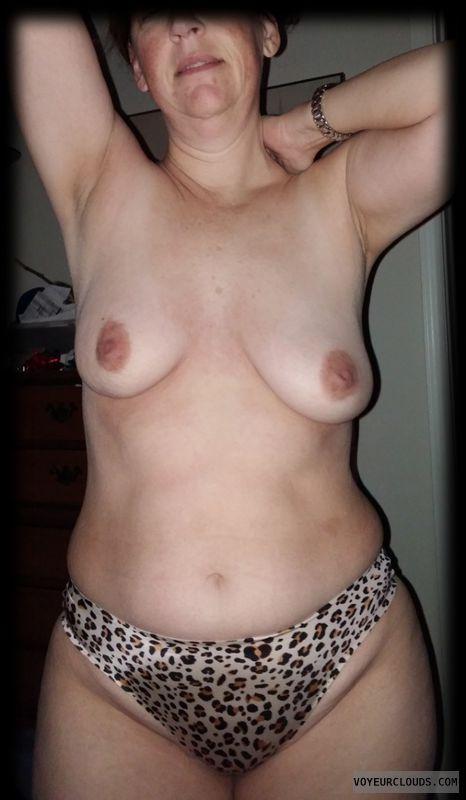 small tits, hard nipples, large hips, animal print