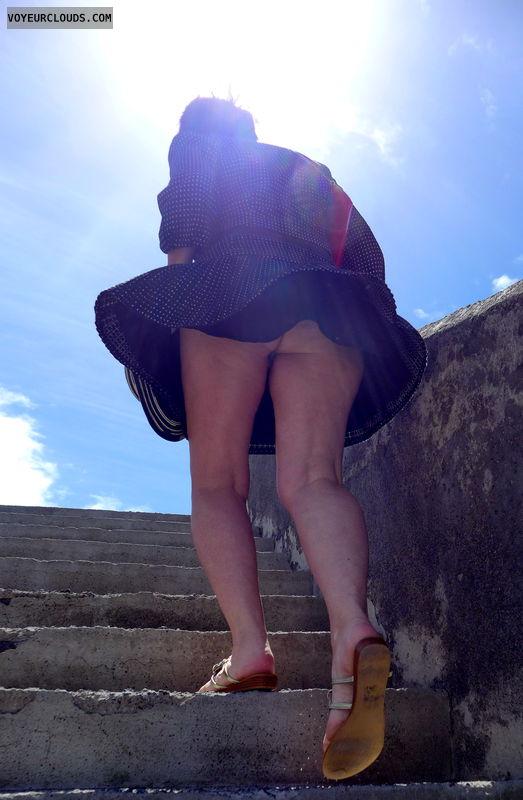 upstairs, upskirt, bottomless, ass peek