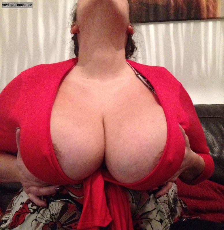 Big tits, big boobs, hangers, topless wife, naked wife