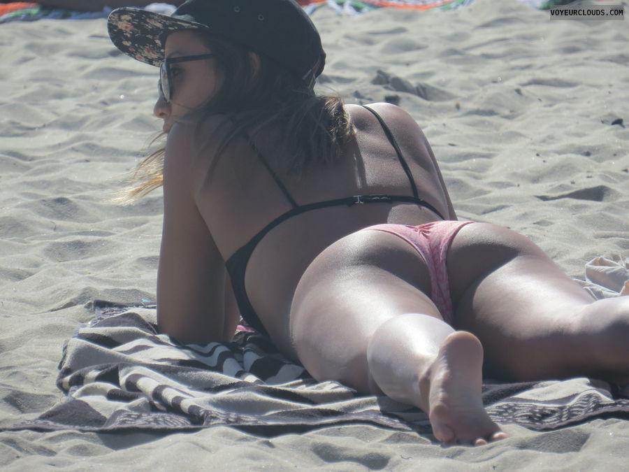 Bikini, Beach voyeur, Ass