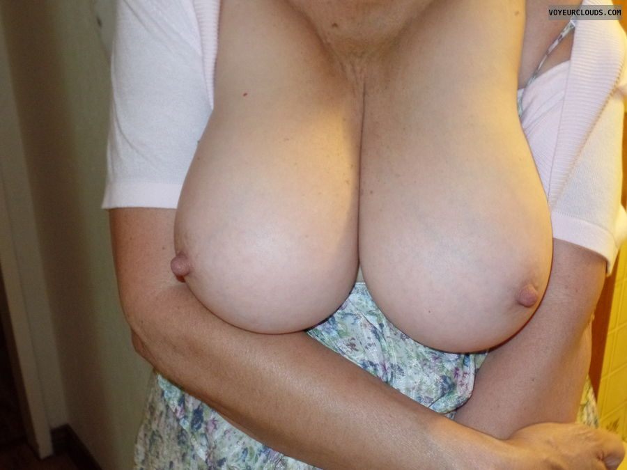 big boobs, pink nipples, hard nipples, tits out