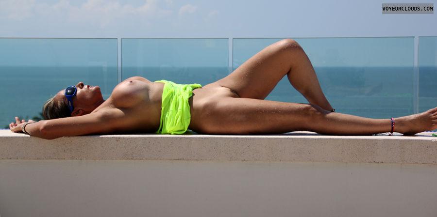 nude milf, milf pussy, milf tits, Nude milf, sun, beach