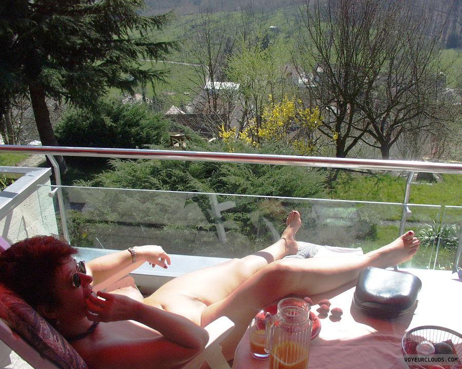 Naked wife balcony, prego sex movie