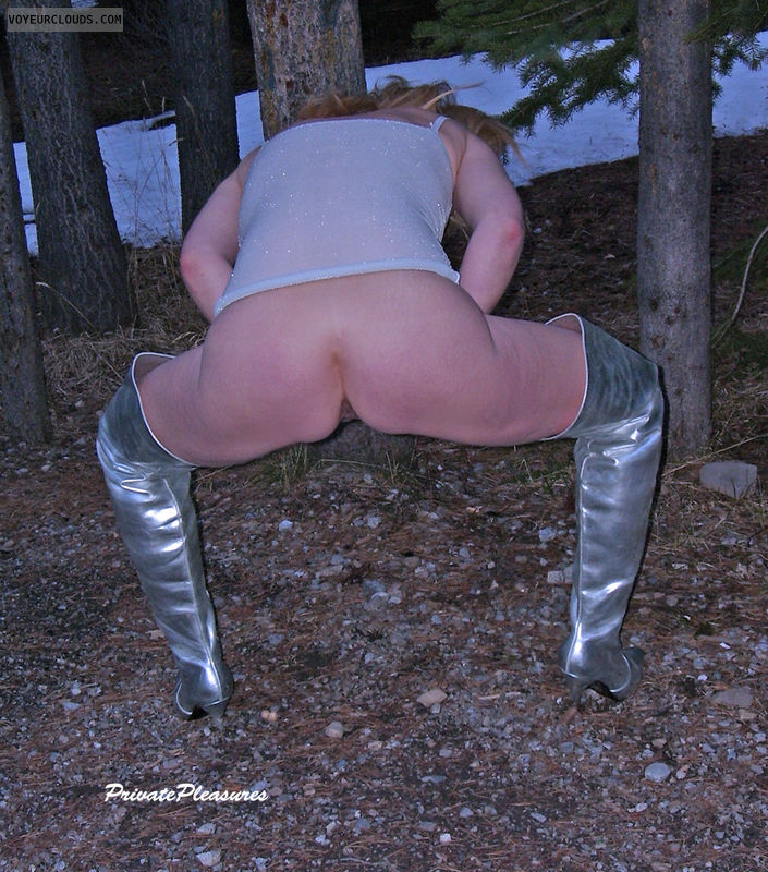 Wife Ass, Outdoors, Bent Over, Squat, Camping, Bunny