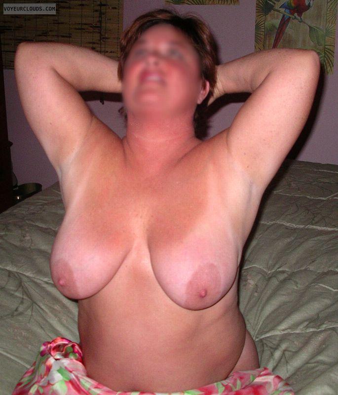 Big Tits, large aerolas, big nipples, bare chest, topless