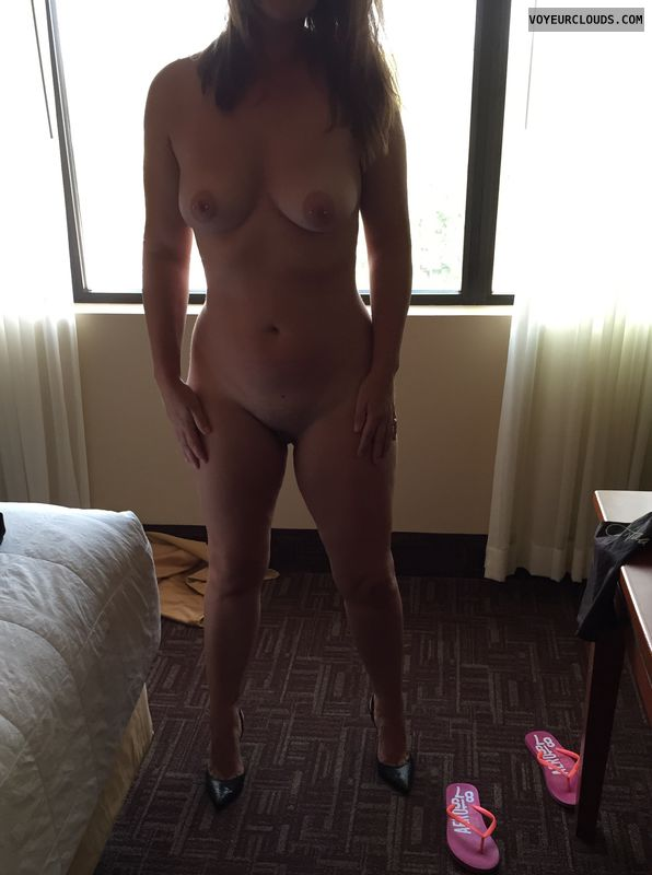 nude milf, High heels, Sexy legs, small Boobs, Nipple piercings