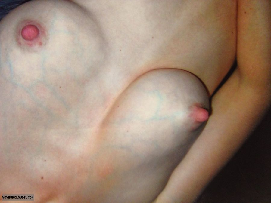 Nipples, small tits, exibitionist, hard nipples