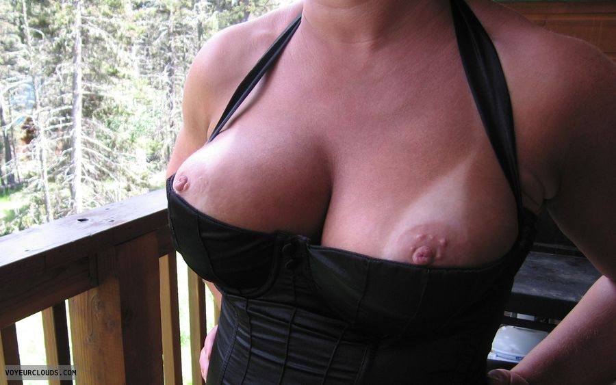 tits Tanlines, Tight Corset, pink nipples, tits out