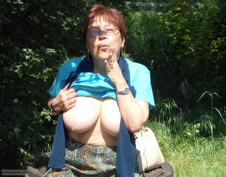 MILF, Outdoors, Big tits, Summer
