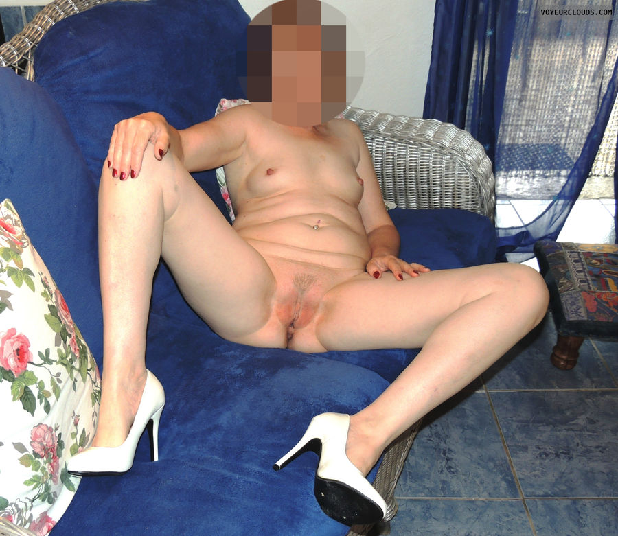 spread legs, naked wife, pussy, trimmed pussy, wife pussy