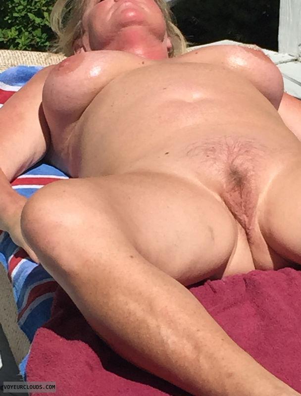 bush, lips, nipples, spread, big tits