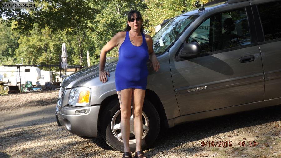 big tits, big boobs, hard nipples, braless, sexy dress