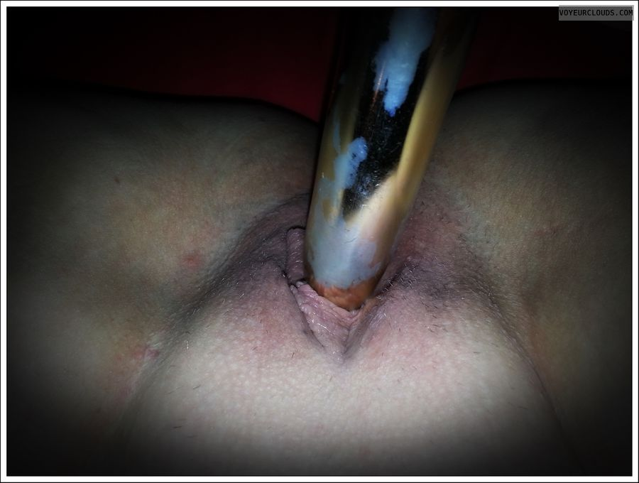 spread pussy, shaved pussy, dildo, masturbating, solo play