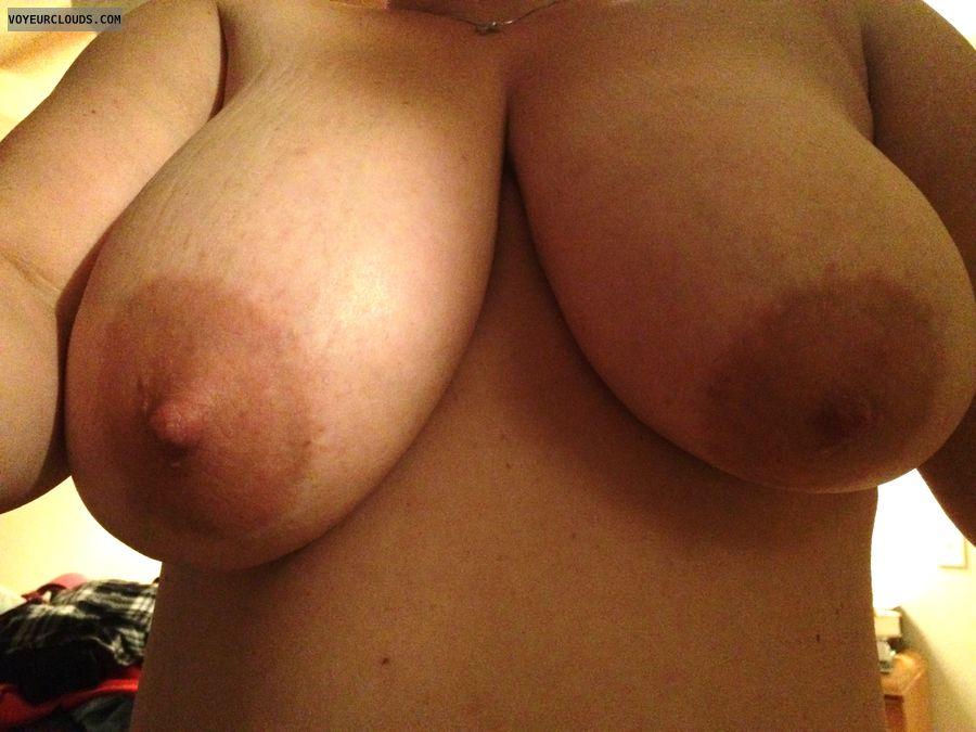 Huge tits, nipples, selfie, milf
