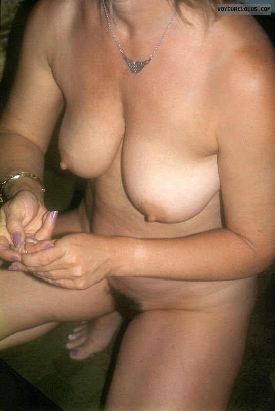 Big tits, nipples, yvonne, naked body, mature, nude hands