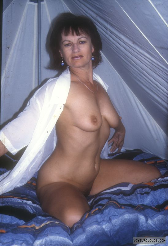 Wife naked in tent