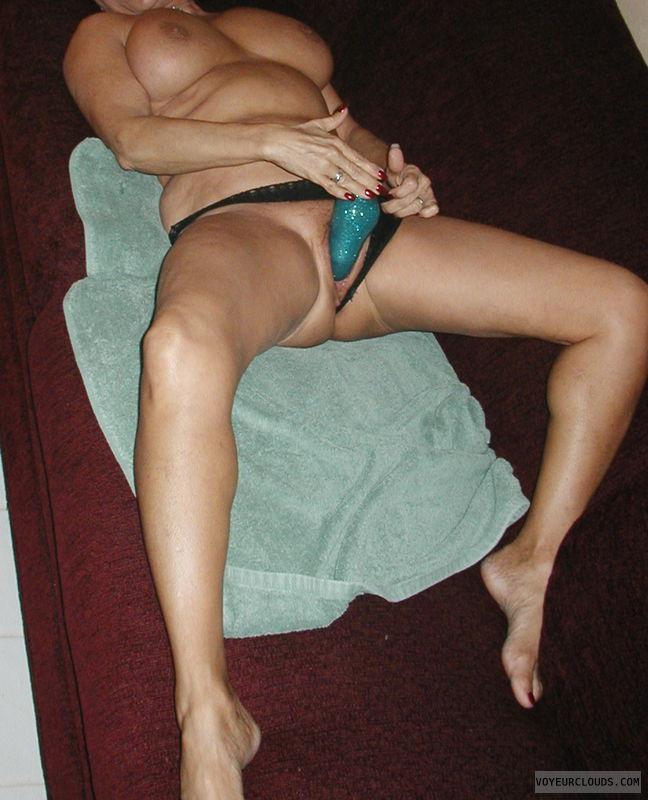 wife sex, masturbation, sex toy, wet pussy, big tits