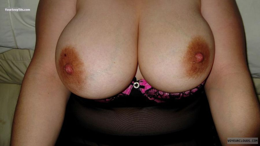 Very big tits, Large areolas, Large nipples, Curvy wife