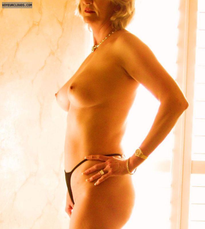 small tits, hard nipples, topless