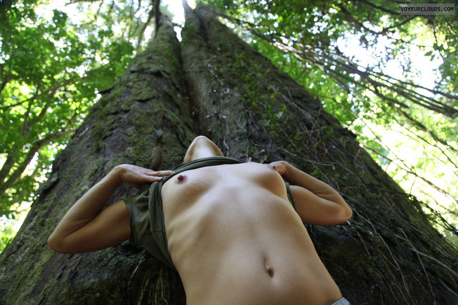 trees, forest, flashing, pg, palmy gurl, rimu, small tits