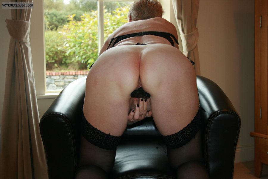 ass, pussy, anal, dildo, tease, stockings, masturbate