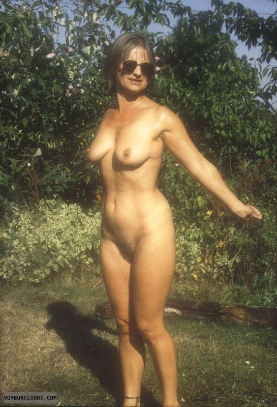 Hairy pussy, yvonne, tits, nipples, outside nude, naked