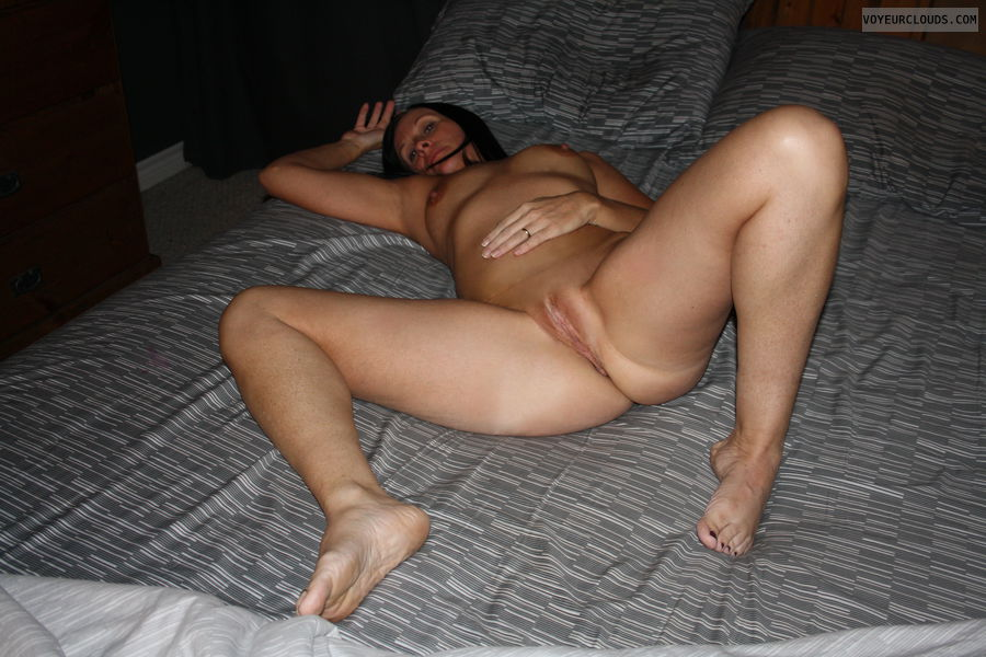 Grateful Wife legs spread open pussy much the