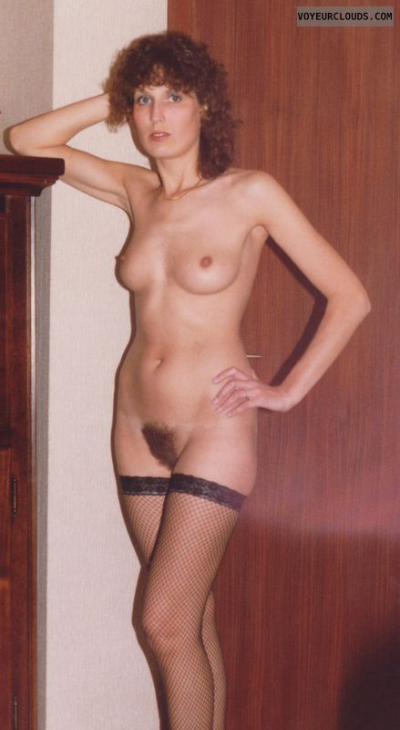 long legs, full nude, natural tits, small tits, hairy pussy