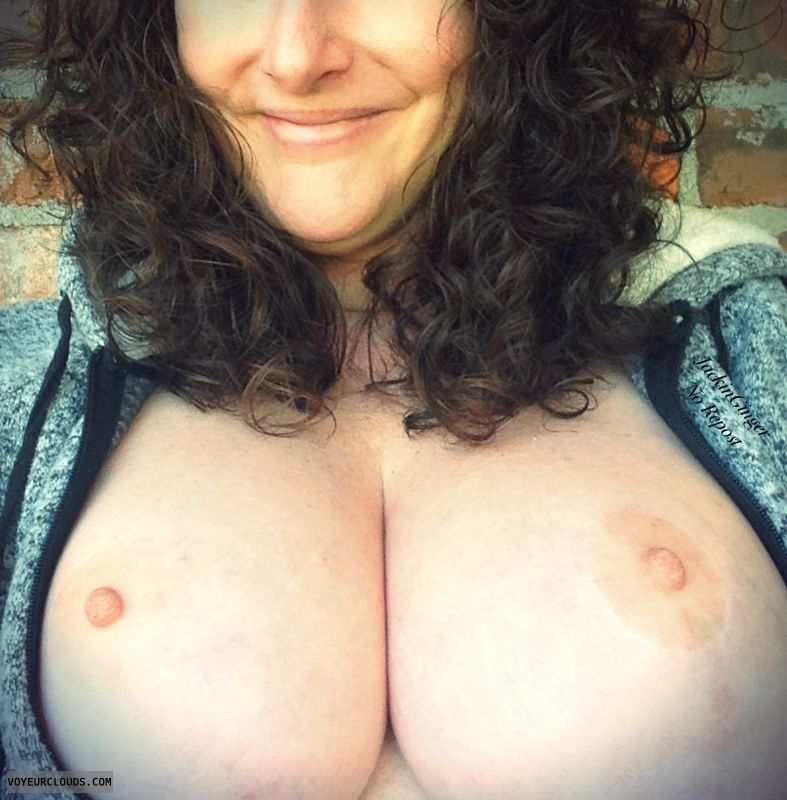 Brunette milf with big natural tits blackmailed