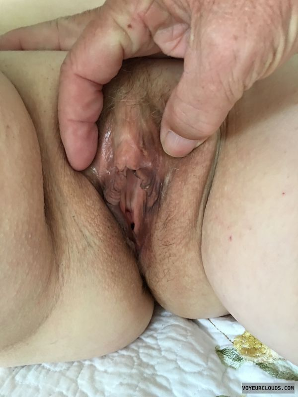 Shaved pussy, Spread pussy, Clit, Dark pussy lips