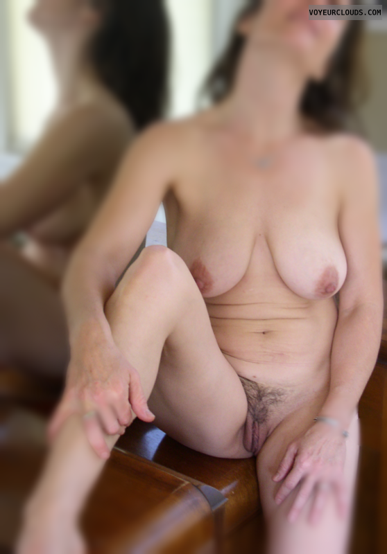 Natural boobs, Hairy pussy, +50