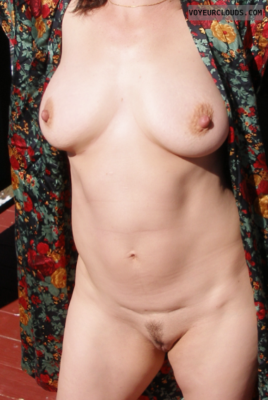 Natural boobs, hard nipples, hairy pussy, posing, MILF