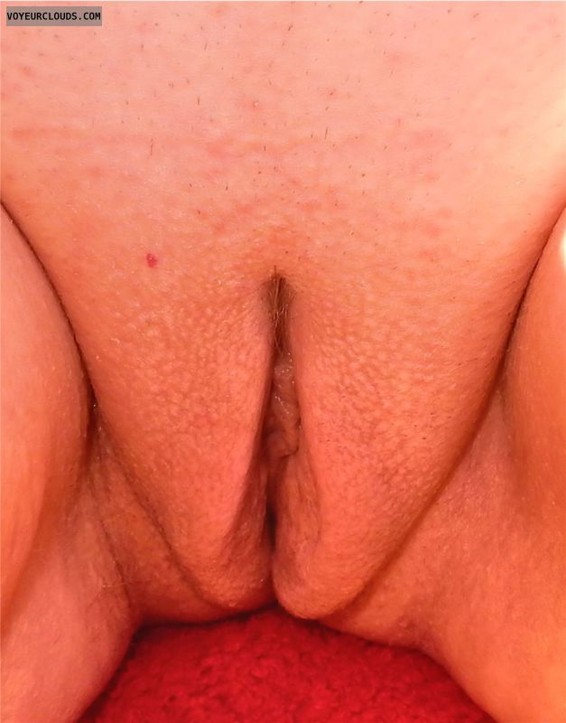 shaved pussy, pussy lips, labia majora, pussy closeup