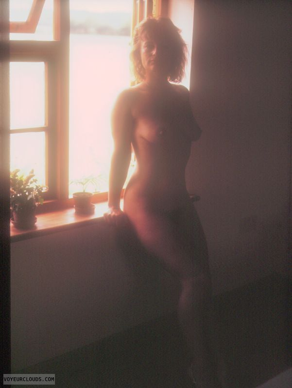 Nude at window, yvonne, naked body, mature, artistic