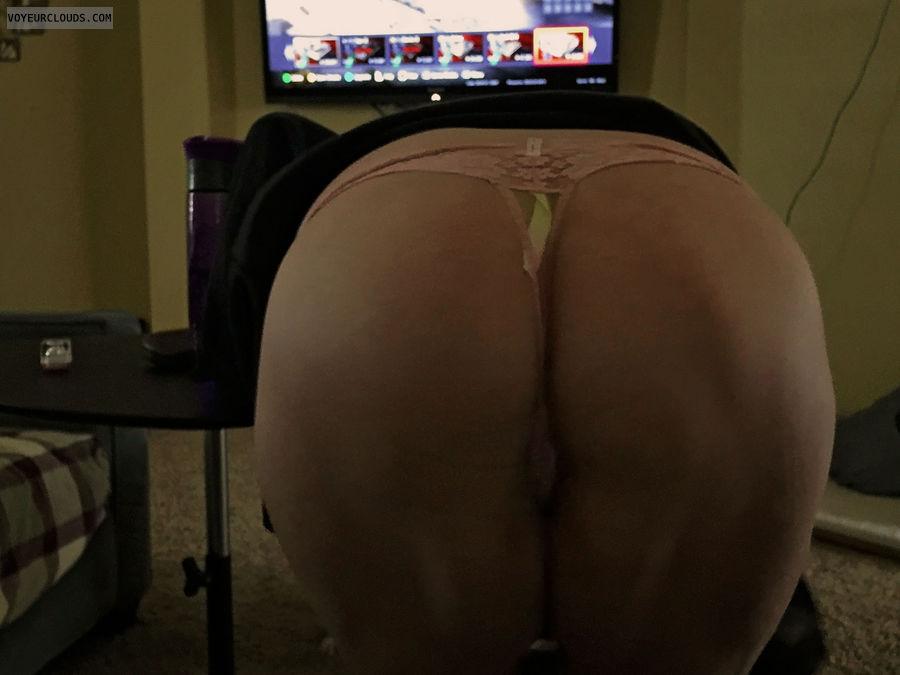 ass, butt, round butt, thong, panties