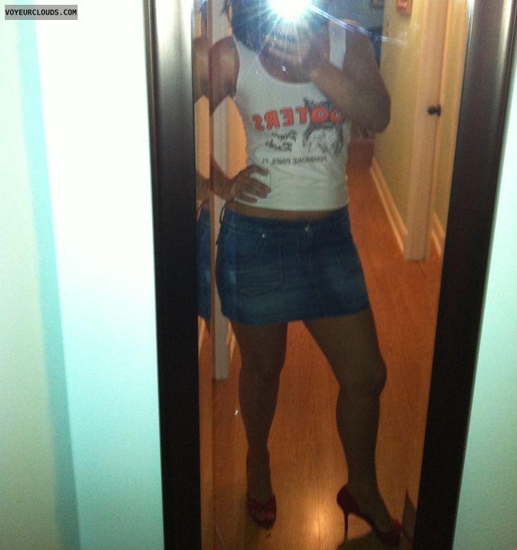 Uniform, Sexy heels, Milf, Sexy legs, Skirt, Selfie