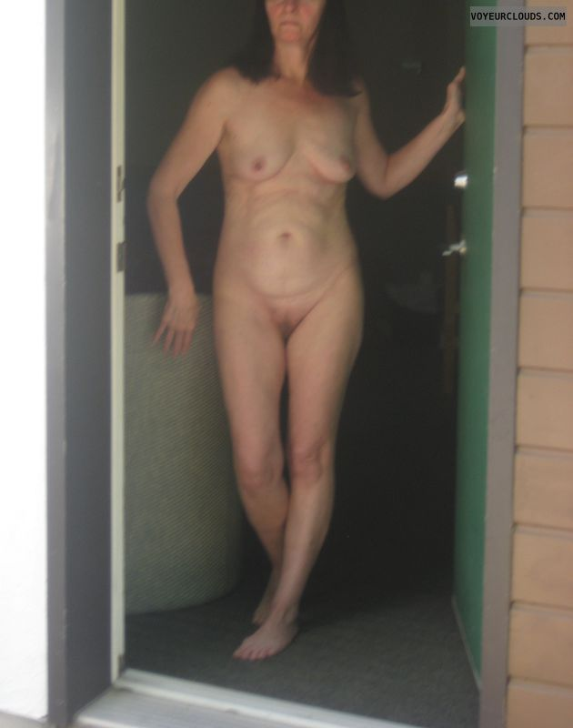 nude milf, nude woman, naked outdoors