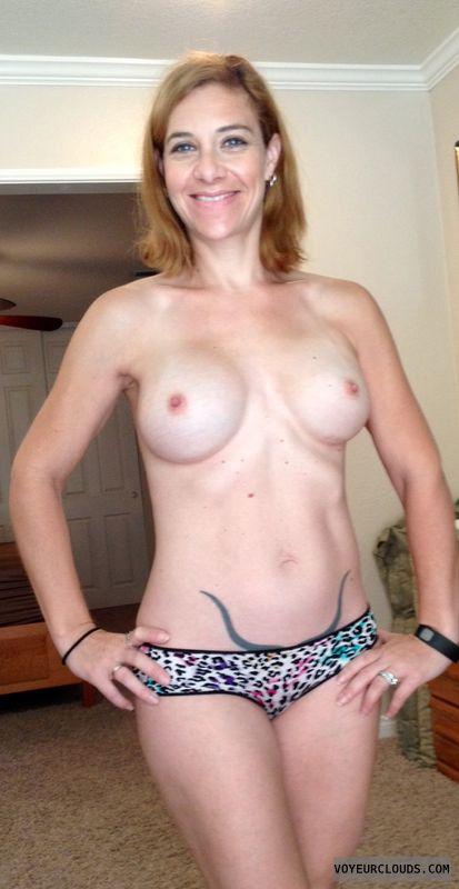topless, woman, big boobs, hard nipples, tattoo