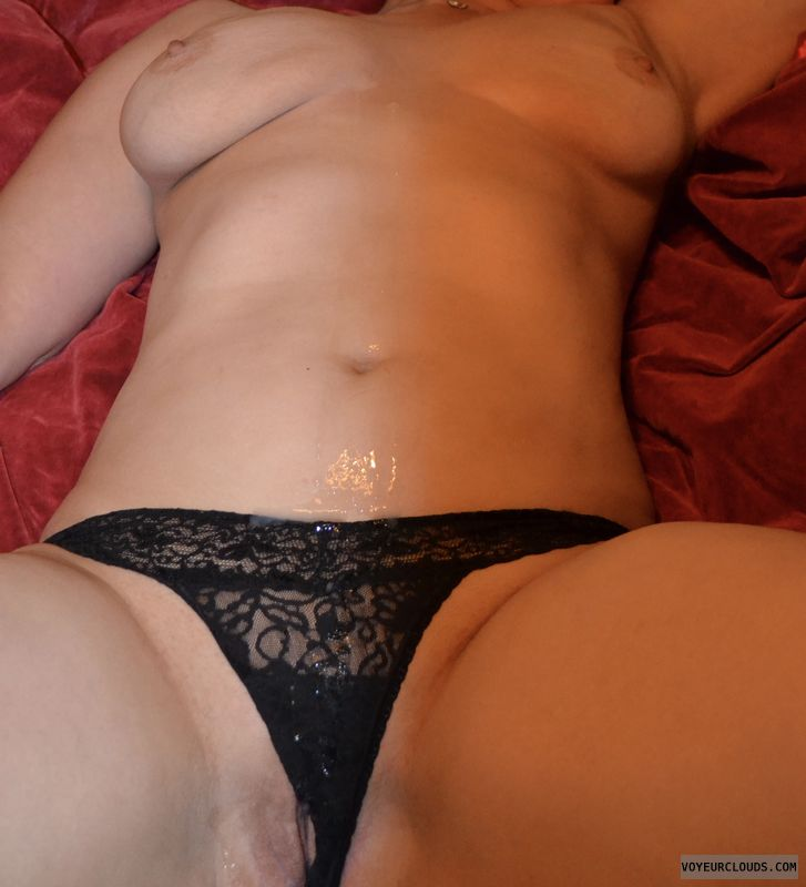 panties, shaved pussy, cum, pussy, big breasts