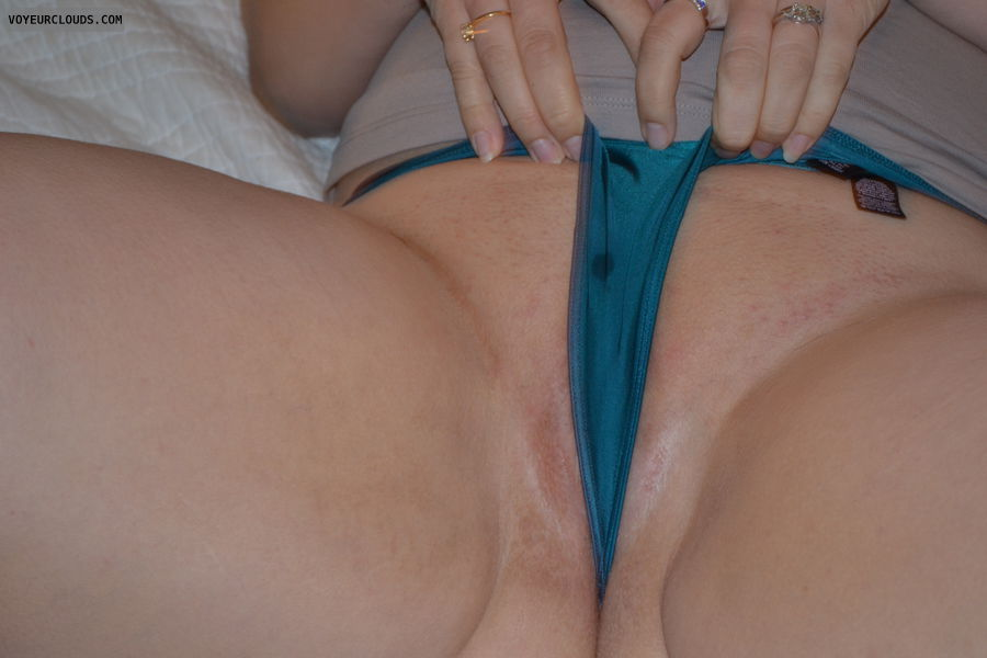 panties, pussy peak, wet, spread legs